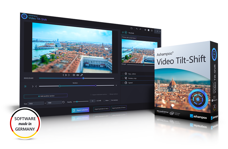 Ashampoo® Video Tilt-Shift - Tilt-shift video program