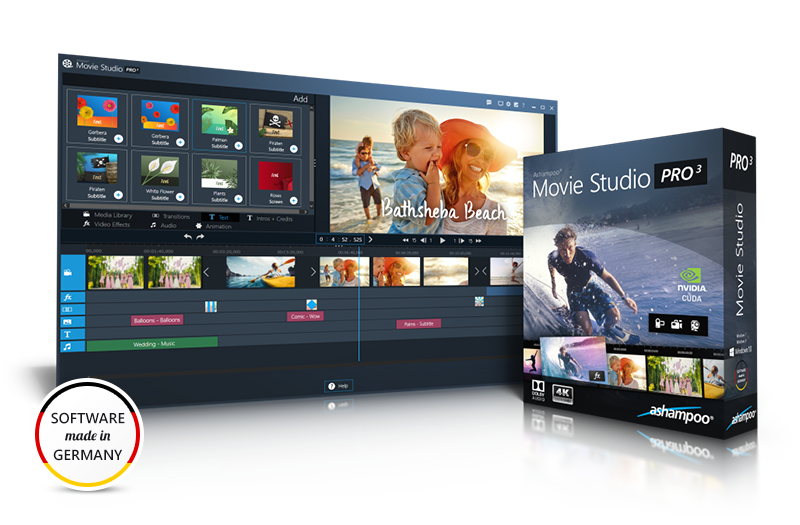 Ashampoo® Movie Studio Pro 3 Screenshot