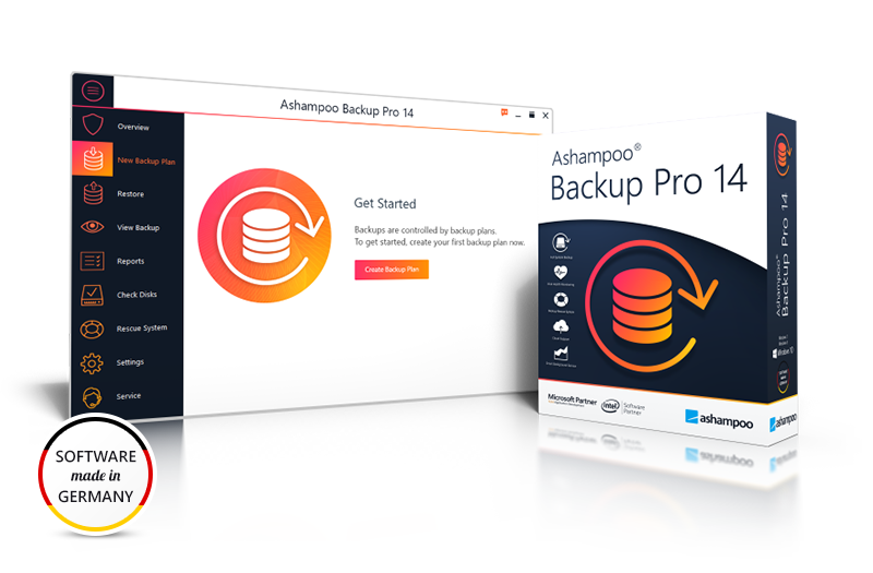 Ashampoo Backup Pro 14 full screenshot
