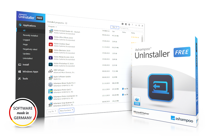 Screenshot: UnInstaller FREE