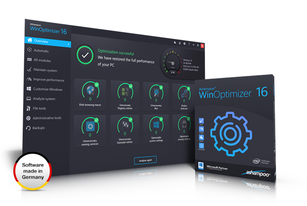 Ashampoo® WinOptimizer 16 Screenshot