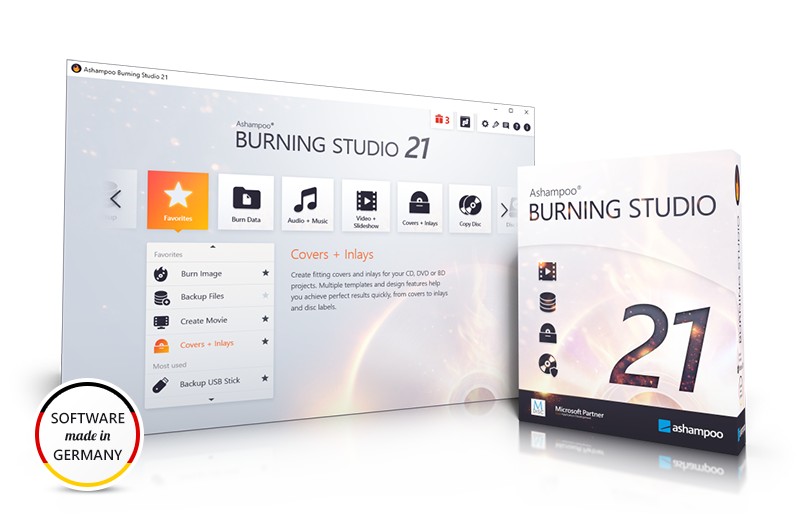 Ashampoo® Burning Studio 21 Screenshot