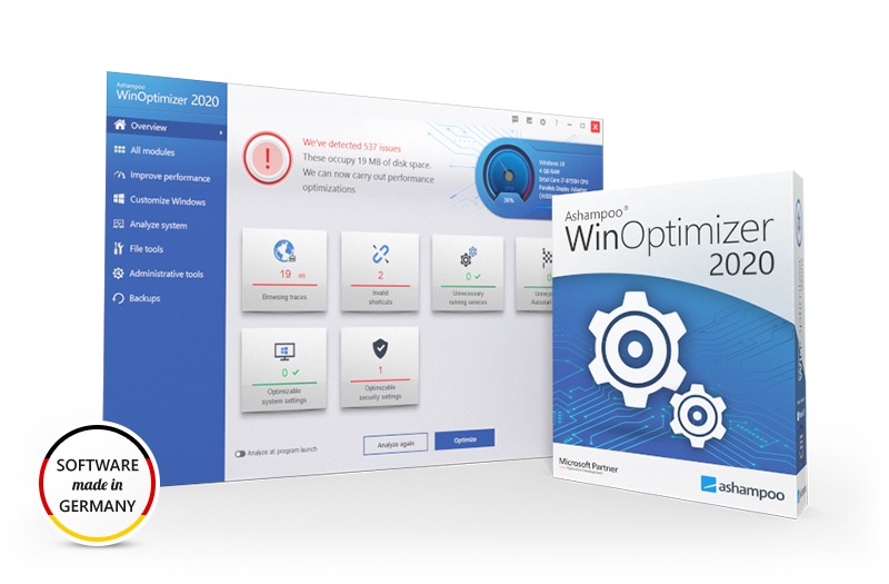 Screenshot WinOptimizer 2019