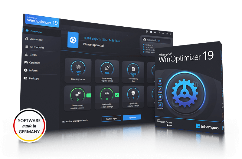 Ashampoo® WinOptimizer 19 Screenshot