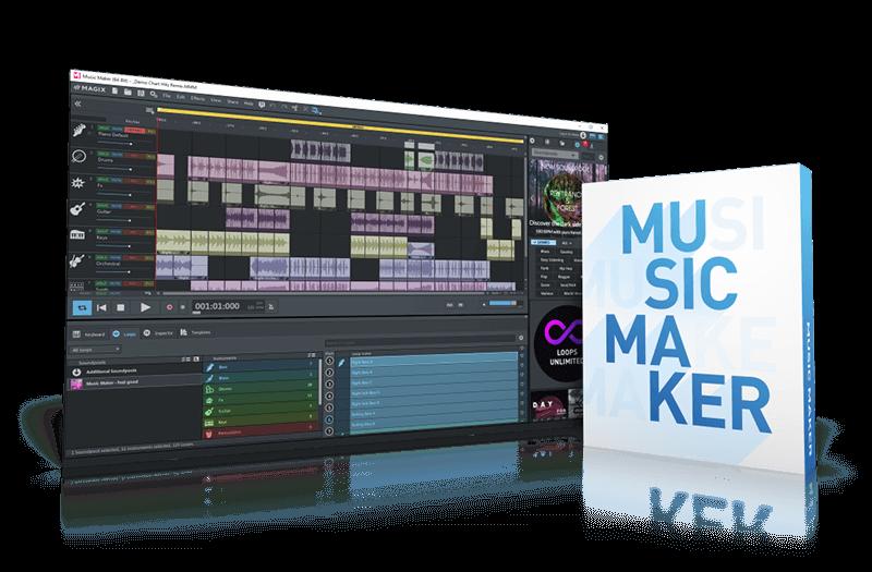 MAGIX Music Maker 2021 + Massive sound library!