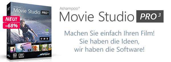 Ashampoo Movie Studio Pro 3 - Machen Sie einfach Ihren Film! Sie haben die Ideen, wir haben die Software